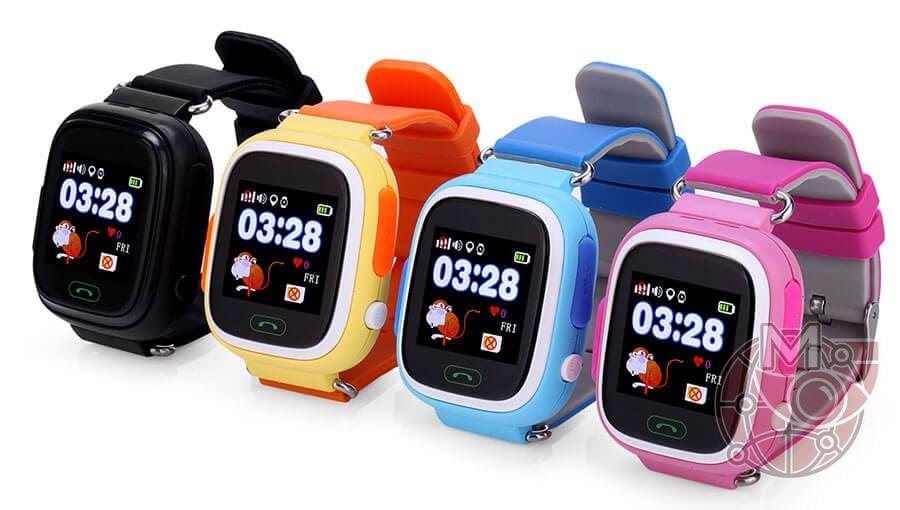 Детские часы с GPS Q90 с сенсорным экраном